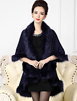 Women's Wrap Capes Faux Fur Wedding Party/ Evening
