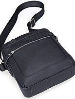 Men Bags All Seasons Cowhide Shoulder Bag Zipper for Event/Party Outdoor Black Coffee
