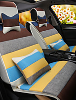 A Rainbow Cartoon Car Cushion Linen Cushion Seat Cover Seat Four Seasons General All Around Whole Linen -2#