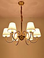europa sei teste amercian classico lampadario a bracci in rame per il soggiorno / camera da letto / sala mensa / foyer lampada di lusso