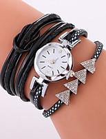 Per donna Orologio alla moda Orologio braccialetto Quarzo PU Banda Fantastico Casual Nero Bianco Blu