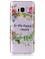 For Case Cover IMD Transparent Pattern Back Cover Case Word / Phrase Butterfly Flower Soft TPU for Samsung Galaxy S8 Plus S8 S7 edge S7