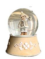 Balls Music Box Toys Circular Crystal Romantic Pieces Unisex Boys Birthday Gift