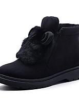 Femme Chaussures Flocage Automne Hiver Bottes de neige Doublure fluff Bottes Bottine/Demi Botte Pour Décontracté Noir Gris