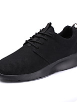 Для мужчин обувь Дышащая сетка Весна Осень Удобная обувь Кеды Шнуровка Назначение Повседневные Черный Черно-белый