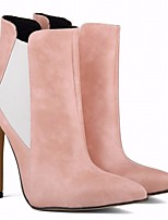 Femme Chaussures Polyuréthane Automne Hiver Bottes à la Mode Bottes Talon Aiguille Bout pointu Bottine/Demi Botte Pour Décontracté Noir