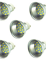 3W LED Spotlight 15 SMD 5730 300 lm Warm White Cold White 3000-7000 K Decorative DC 12-24 V 5 pcs