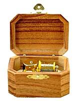 Spieluhr Aufziehbare Spielsachen Spielzeuge Achteck Holz Stücke Unisex Geburtstag Geschenk