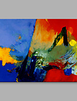 Hand-Painted Abstract Horizontal,Artistic One Panel Canvas Oil Painting For Home Decoration
