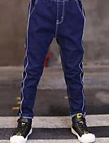 Jungen Jeans einfarbig Patchwork Baumwolle Herbst Winter
