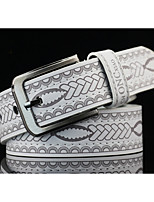 Men's Alloy Waist Belt,Pattern Print Retro