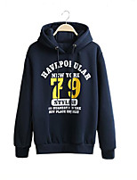 Men's Plus Size Sports Outdoor Casual/Daily Simple Hoodie Solid Letter Patchwork Hooded Micro-elastic Cotton Linen Polyester Long Sleeve