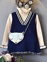 Girls' Stripes Sets,Rayon Spring Fall Long Sleeve Clothing Set