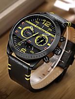 Herrn Sportuhr Modeuhr Armbanduhren für den Alltag Armbanduhr Einzigartige kreative Uhr Japanisch Quartz Kalender Echtes Leder Band