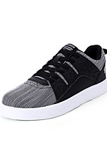 Women's Shoes PU Spring Fall Comfort Sneakers Flat Heel Round Toe Lace-up For Casual Blue Black White