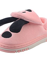 Girls' Shoes Velvet Winter Fur Lining Fluff Lining Comfort Slippers & Flip-Flops Pom-pom For Casual Light Pink Light Blue Blushing Pink