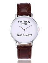 Women's Fashion Watch Wrist watch Unique Creative Watch Chinese Quartz PU Band Casual Black White Brown