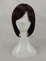 Women Synthetic Wig Capless Short Straight Brown Bob Haircut Cosplay Wig Costume Wig
