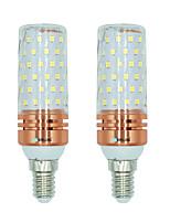 BRELONG E14 84 SMD 2835 16W Corn Light Bulb White / Warm white / Dual light source color AC220 - 240V 2PCS