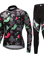 Cycling Jersey with Tights Unisex Long Sleeves Bike Clothing Suits Fast Dry Classic Fashion Camouflage Autumn/Fall Spring Cycling/Bike