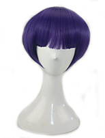 Women Synthetic Wig Capless Short Straight Purple/Blue With Bangs Lolita Wig Party Wig Costume Wig