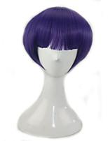 Femme Perruque Synthétique Sans bonnet Court Raide Bleu/Violet Avec Frange Perruque Lolita Perruque de fête Perruque Déguisement