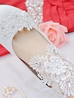 Femme Chaussures Dentelle Similicuir Printemps Automne Confort Chaussures de mariage Bout rond Strass Noeud Applique Couture en Dentelle