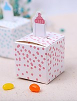Cubic Card Paper Favor Holder With Favor Boxes Wedding Favors