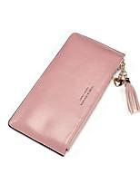 Women Bags All Seasons PU Wallet Buttons Zipper for Event/Party Formal Blushing Pink Yellow Dark Green Light Purple Light Gray