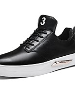 Men's Shoes Synthetic Microfiber PU PU Spring Fall Comfort Sneakers For Casual Black/Blue Black/White Black