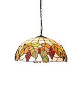 diámetro 45cm tiffany luces colgantes pantalla de lámpara de vidrio sala de estar dormitorio luminaria comedor