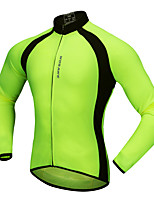 WOSAWE Cycling Jersey Unisex Long Sleeves Bike Jersey Top Breathability Polyester Classic Fashion Autumn/Fall Spring Mountain Cycling