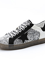 Women's Shoes Customized Materials Summer Fall Comfort Light Soles Sneakers Flat Heel Sequin For Casual Outdoor Red Black
