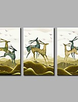 Elk 3-Piece Modern Artwork Wall Art for Room Decoration 20x28inchx3