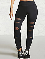 Women's Medium Solid Color Shredded Legging,Solid