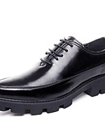 Men's Shoes PU Spring Fall Comfort Oxfords For Casual Gray Black