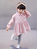 Girl's Solid Dress Fall Winter