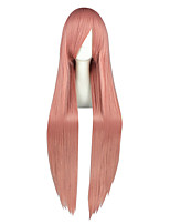 Women Synthetic Wig Capless Very Long Kinky Straight Pink Anime Cosplay Wig Costume Wig