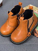 Boys' Shoes Cowhide Fall Winter Comfort Sneakers For Casual Brown