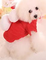 Katze Hund Mäntel Hundekleidung warm halten Weihnachten Karton Rot Blau Rosa