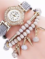 Per donna Orologio alla moda Orologio braccialetto Simulato Triangolo Orologio Cinese Quarzo imitazione diamante PU Banda Ciondolo Casual