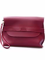Women Bags All Seasons PU Clutch Zipper for Casual Black Brown Wine