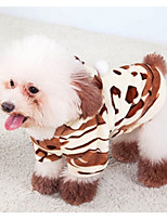Dog Hoodie Dog Clothes Casual/Daily Geometic Brown
