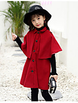 Girls' Solid Jacket & Coat,Wool Cotton Fall Winter Long Sleeve