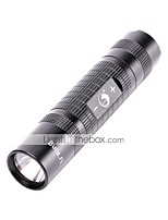 LED Flashlights / Torch 600 lm 4 Mode Cree Q5 for Camping/Hiking/Caving Everyday Use Cycling/Bike Hunting Fishing No Black