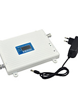 3G W-CDMA UMTS 2100MHz 4G DCS 1800MHz Dual Band Mobile Phone Signal Booster 3G 4G Signal Repeater with 12v Power / LCD Display / White