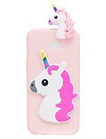Custodia Per Samsung Galaxy A5(2017) A3(2017) Fantasia/disegno Fai da te Custodia posteriore Unicorno Fantasia
