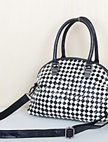 Women Bags All Seasons Cowhide Tote Tiered for Event/Party Casual Black/White