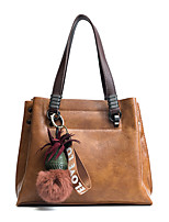 Women Bags All Seasons PU Tote Zipper for Casual Office & Career Red Blushing Pink Gray Brown Army Green