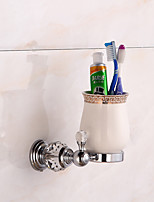Toothbrush Holders Crystal Brass